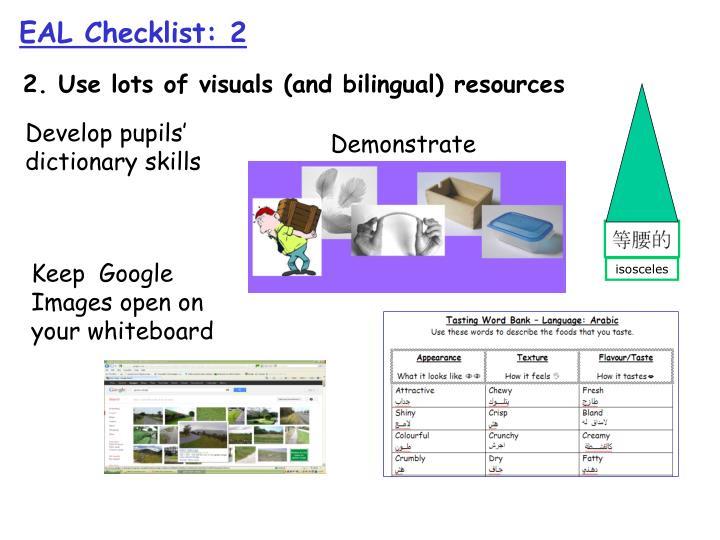 EAL Checklist: 2