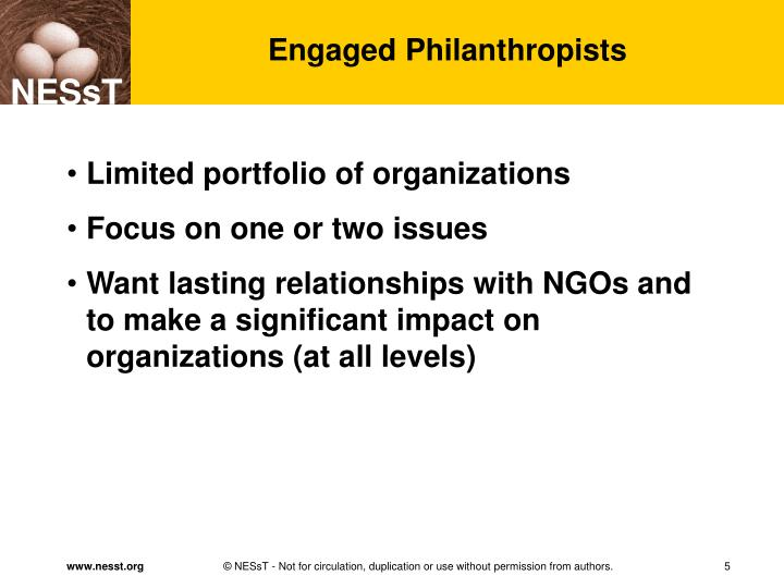 Engaged Philanthropists