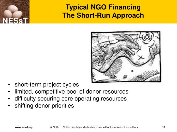 Typical NGO Financing