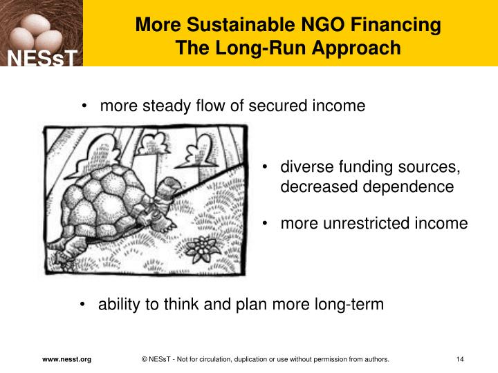 More Sustainable NGO Financing