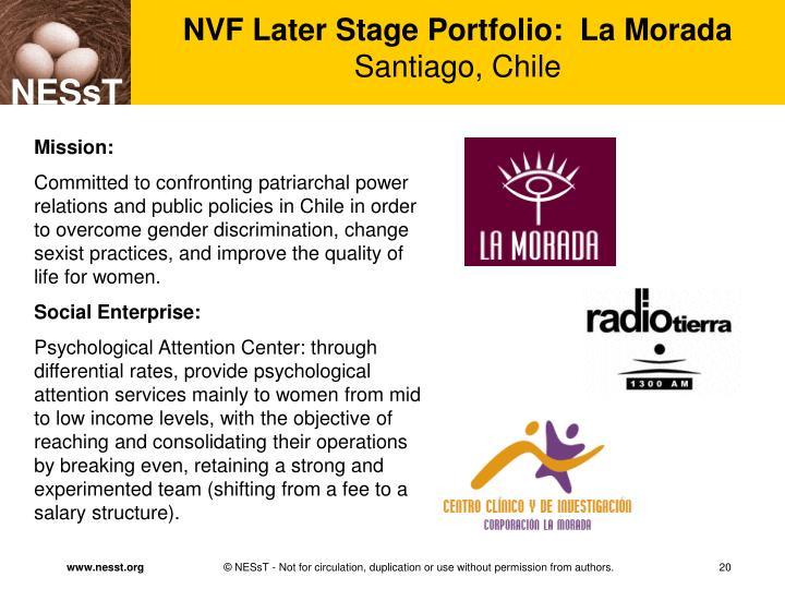 NVF Later Stage Portfolio:  La Morada
