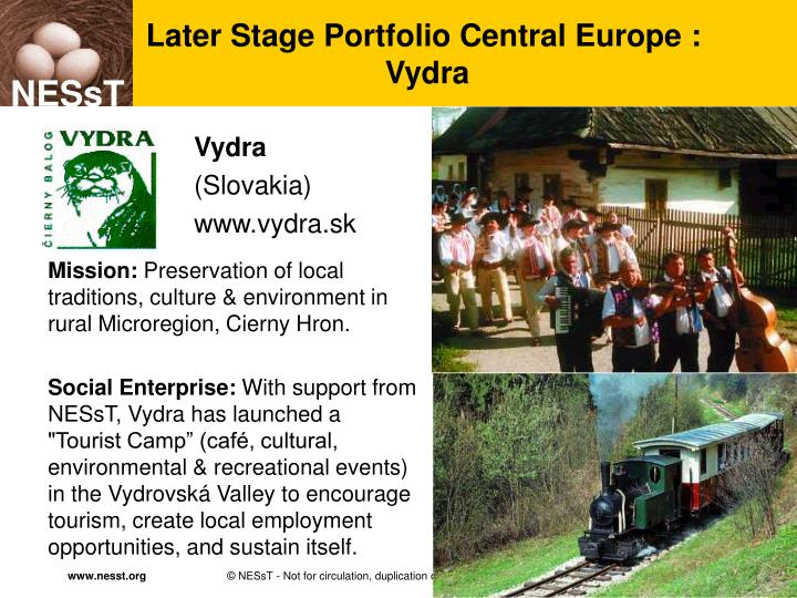 Later Stage Portfolio Central Europe