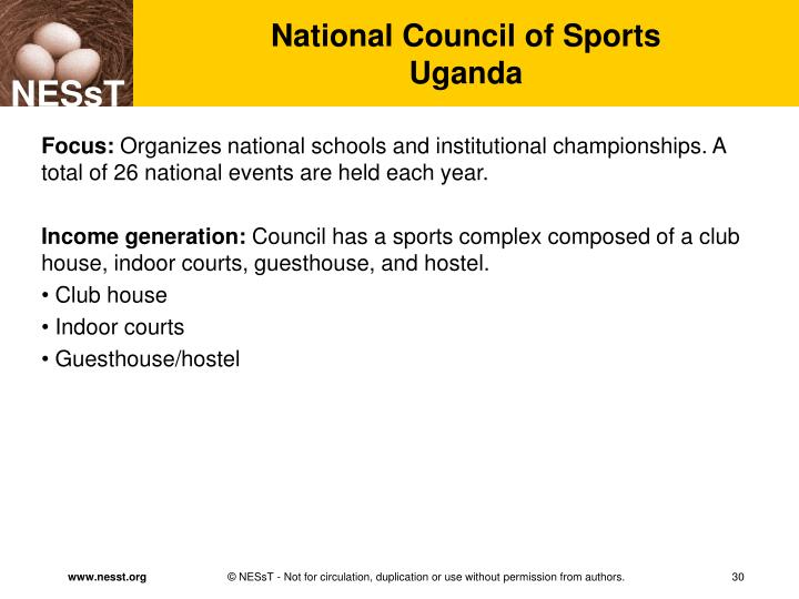 National Council of Sports
