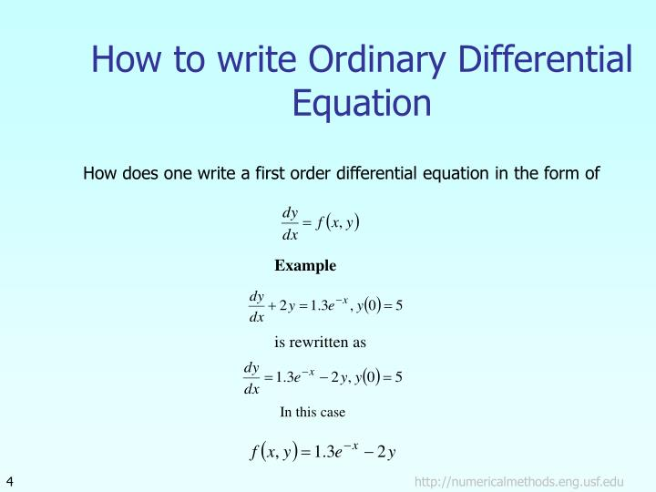 How to write Ordinary Differential Equation