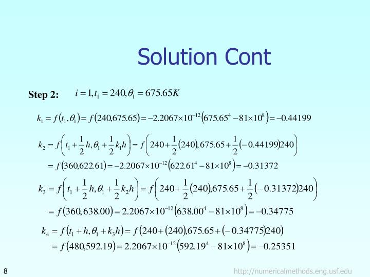 Solution Cont