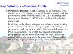 key definitions borrower profile1