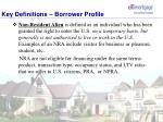 key definitions borrower profile3