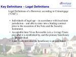 key definitions legal definitions