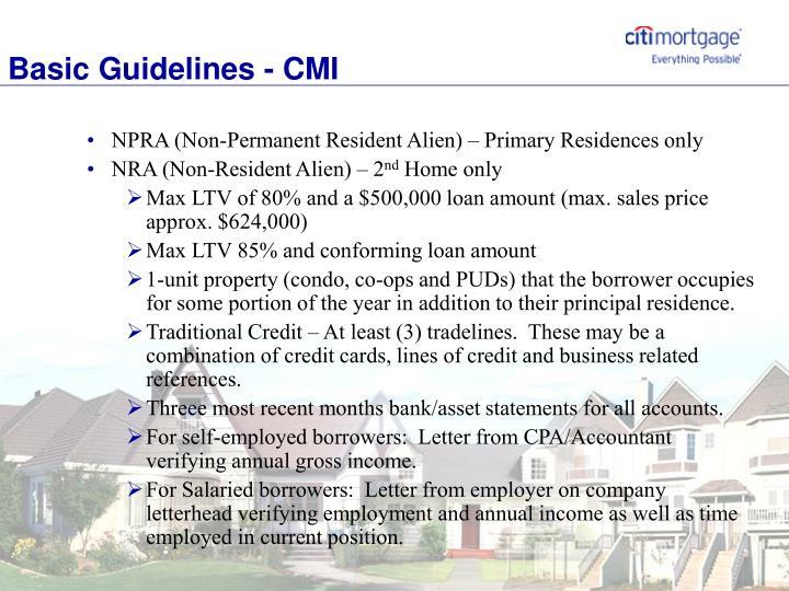 Basic Guidelines - CMI