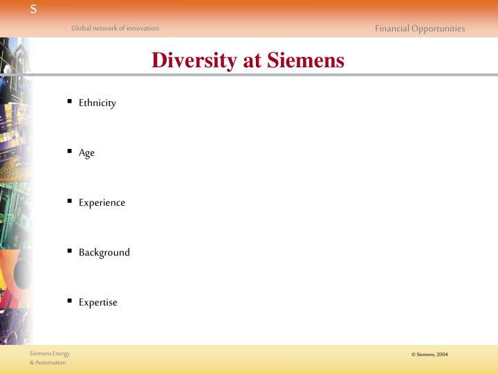 Diversity at Siemens