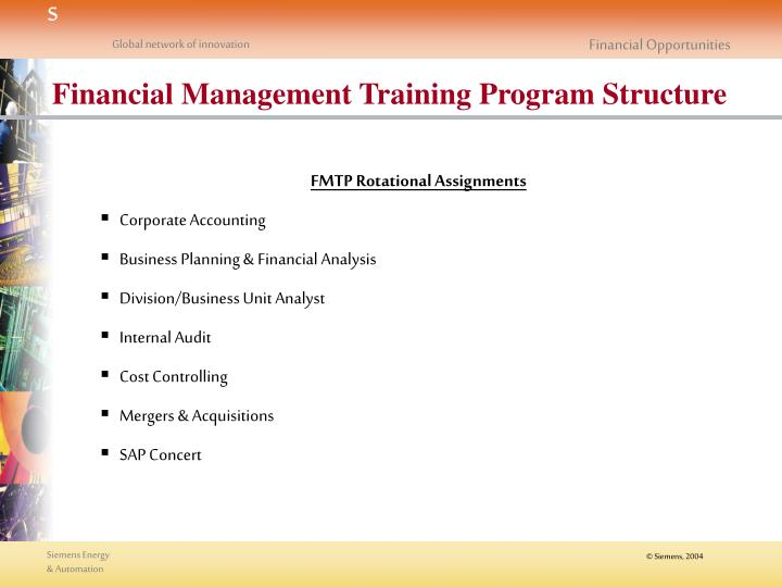Financial Management Training Program Structure