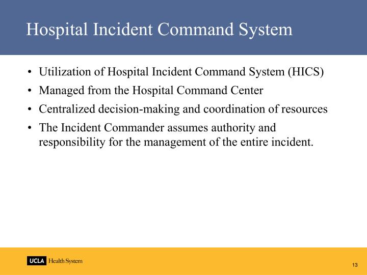 Hospital Incident Command System