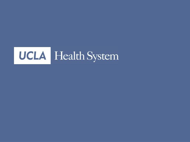 Ucla health system emergency management