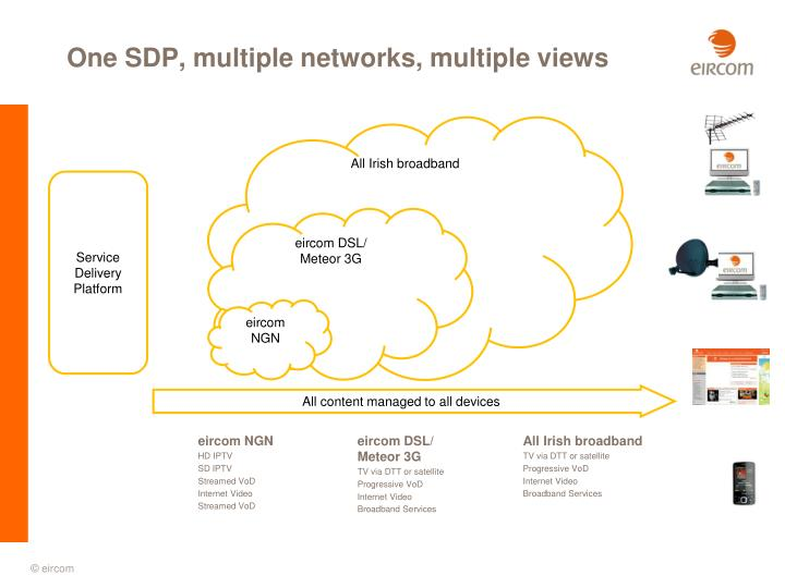 One SDP, multiple networks, multiple views