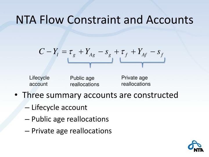 NTA Flow Constraint and Accounts