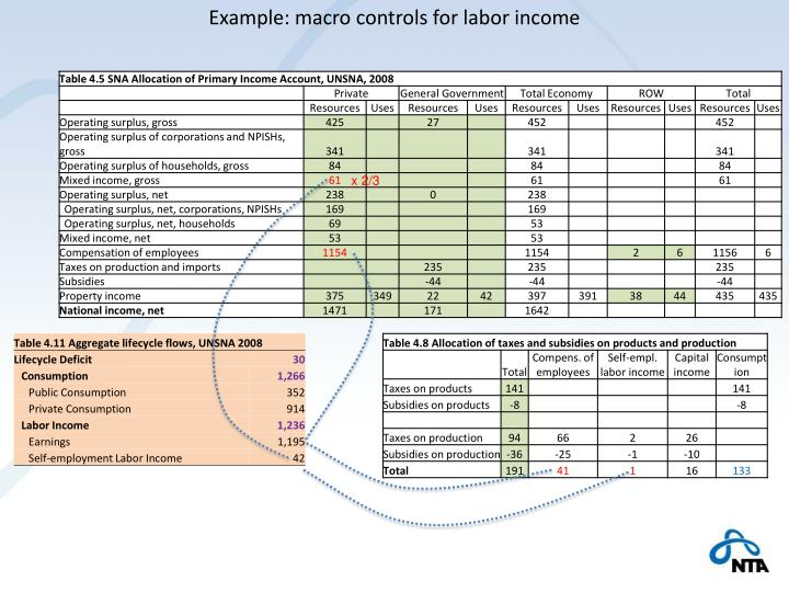 Example: macro controls for labor income
