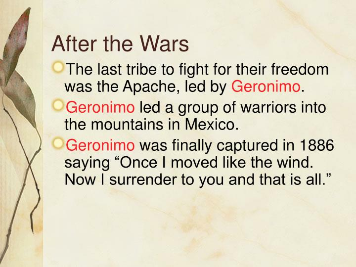 After the Wars