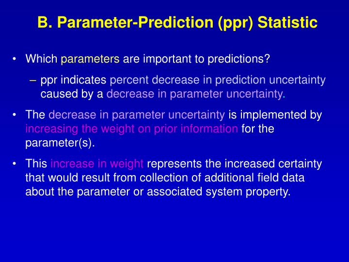 B. Parameter-Prediction (ppr) Statistic
