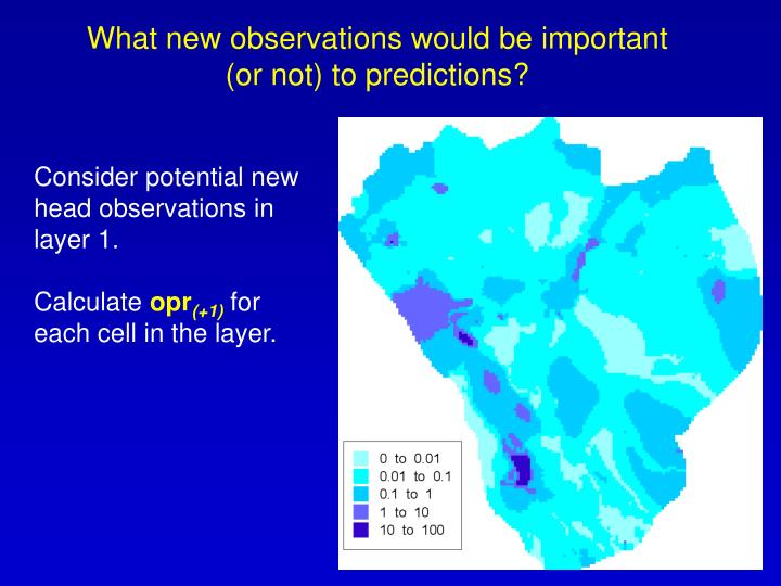 What new observations would be important