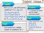 triplets unique t