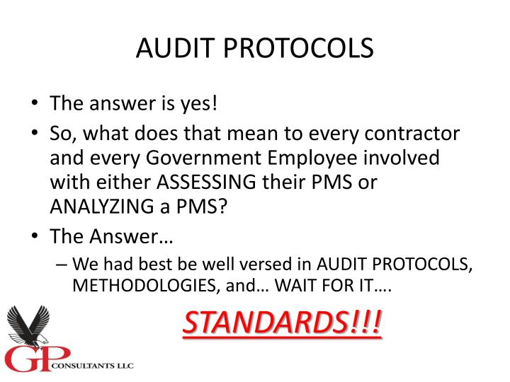 AUDIT PROTOCOLS