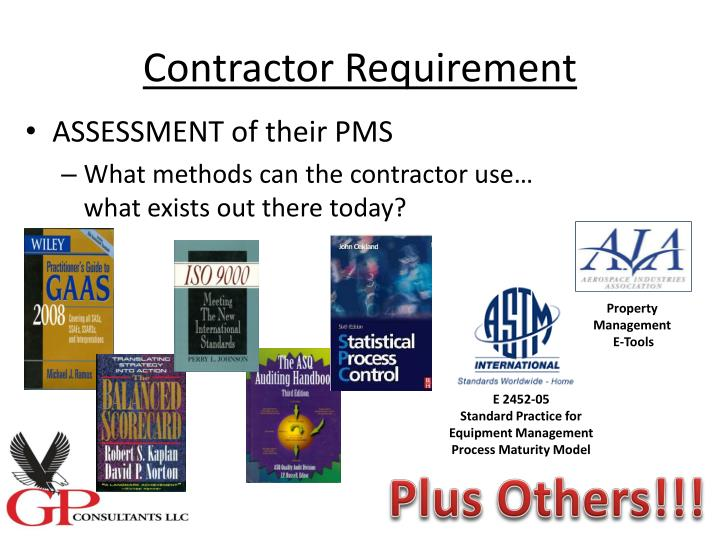 Contractor Requirement
