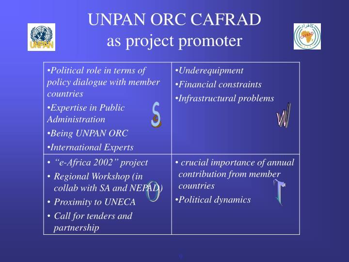 UNPAN ORC CAFRAD