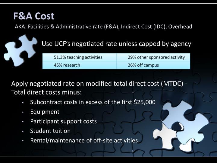 F&A Cost