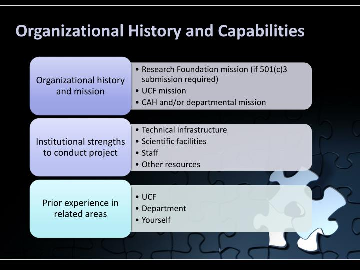 Organizational History and Capabilities