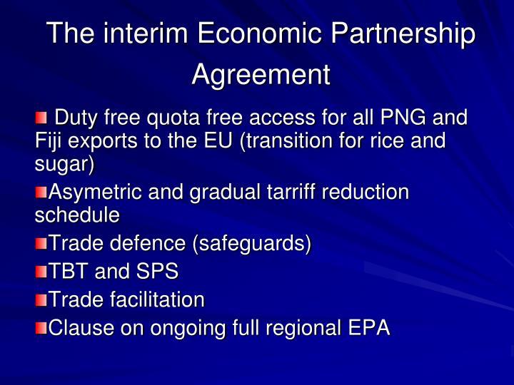 The interim Economic Partnership Agreement