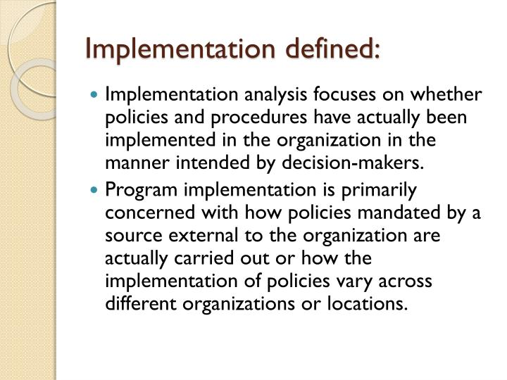 Implementation defined