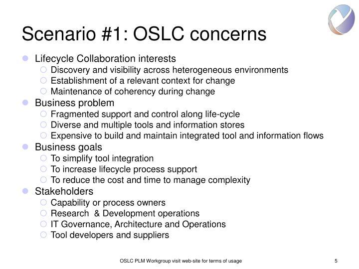 Scenario #1: OSLC concerns