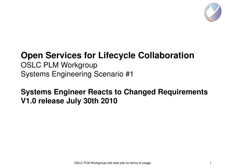 Open Services for Lifecycle Collaboration