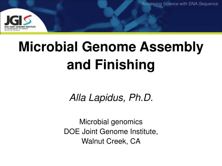 Microbial Genome Assembly
