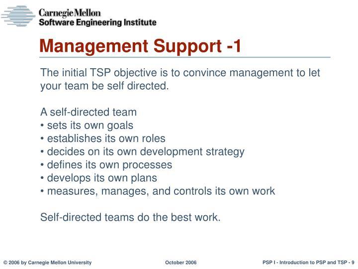 Management Support -1
