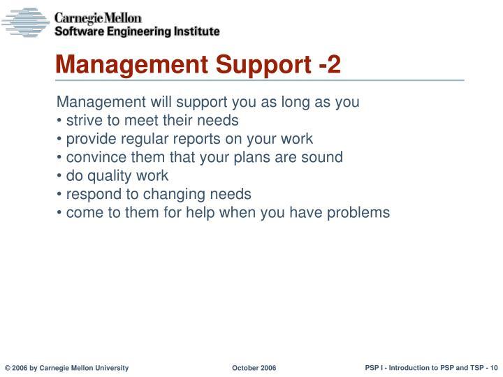 Management Support -2