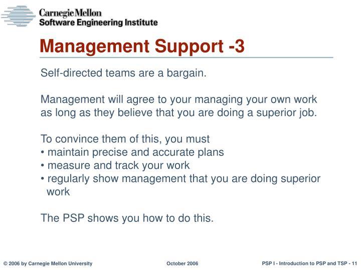 Management Support -3