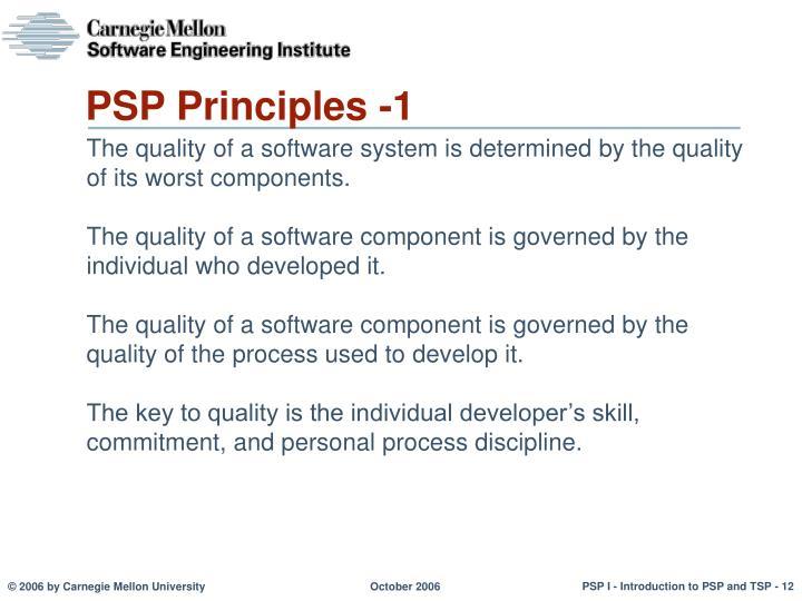 PSP Principles -1