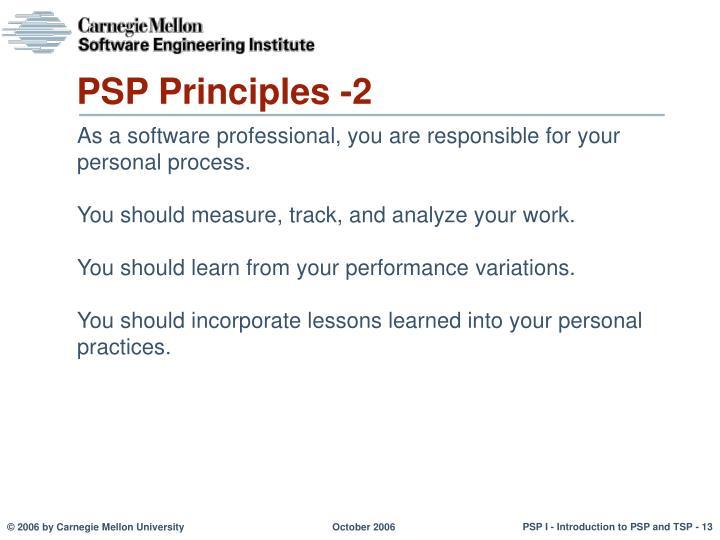 PSP Principles -2
