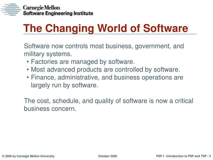 The Changing World of Software
