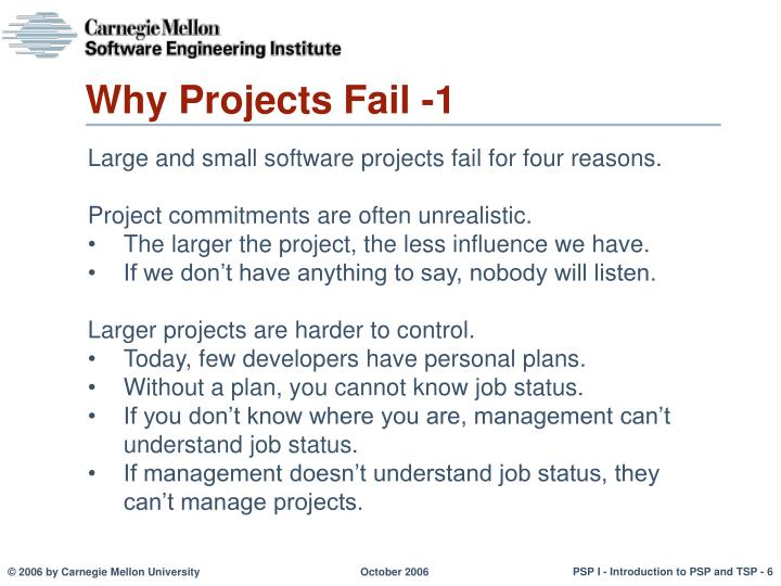 Why Projects Fail -1