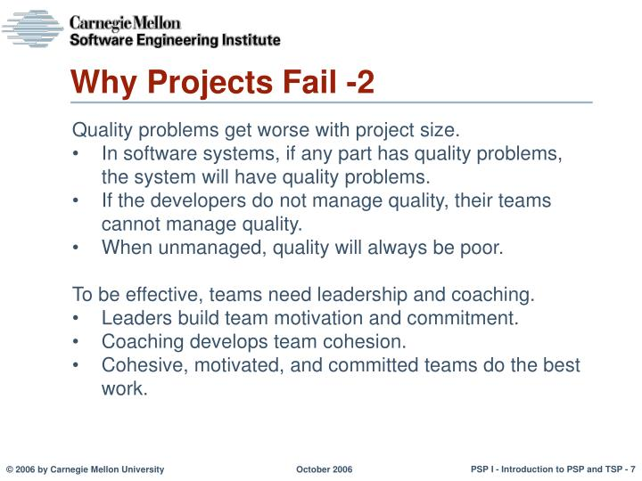 Why Projects Fail -2