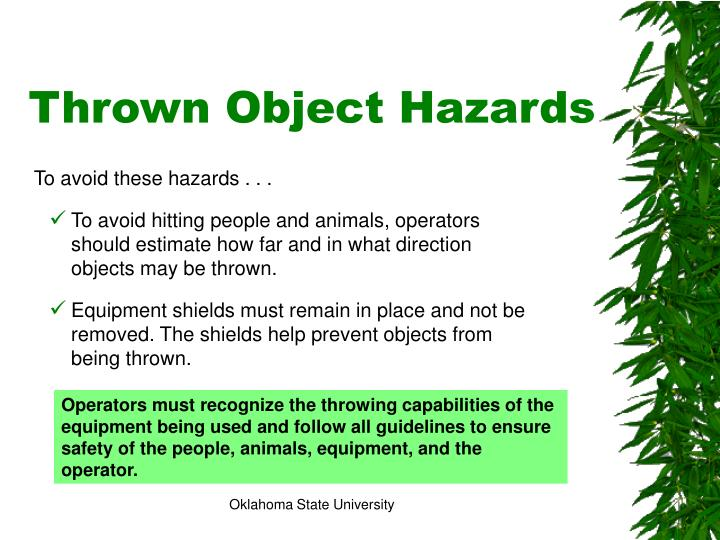 Thrown Object Hazards