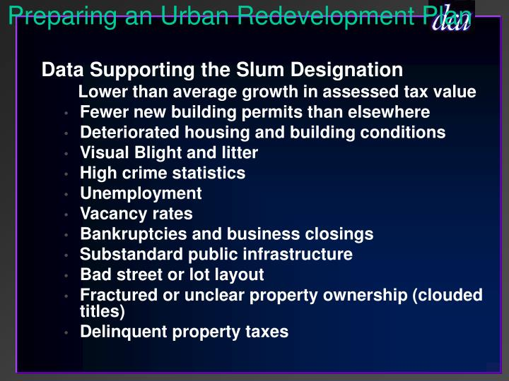 Preparing an Urban Redevelopment Plan