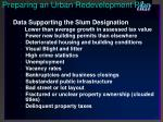 preparing an urban redevelopment plan