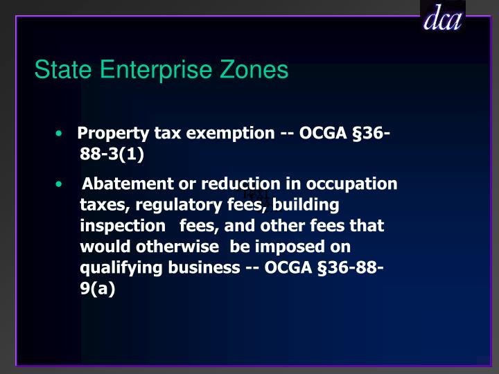 State Enterprise Zones