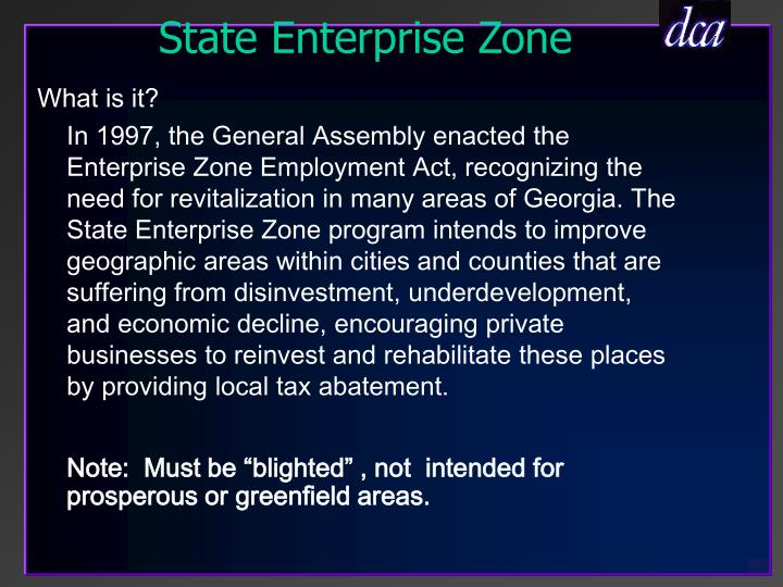 State Enterprise Zone
