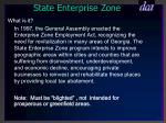 state enterprise zone