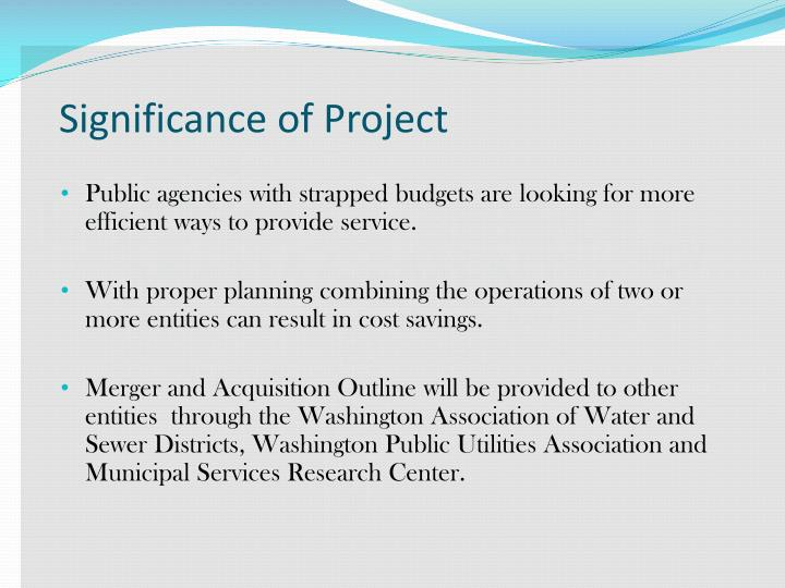 Significance of Project