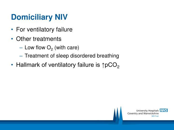 Domiciliary NIV